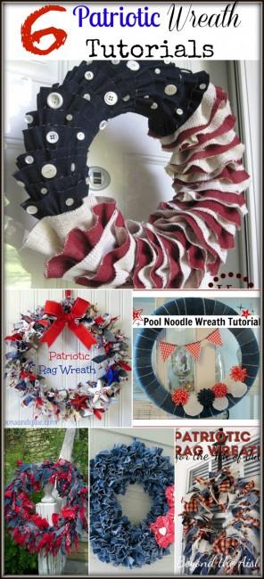 6 DIY Patriotic Wreath Tutorials