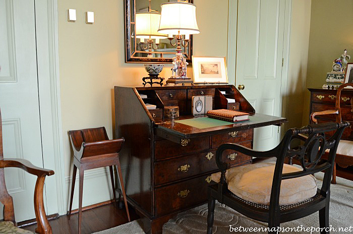 Antique Secretary in Leila and Kemper Williams Home, New Orleans
