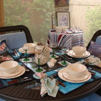 Screened Canopy Room For Summer Dining and Entertaining