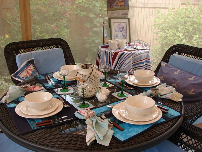 Beach China for a Summer Table Setting