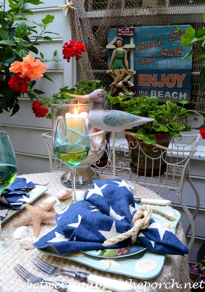 Beach Coastal Tablescape