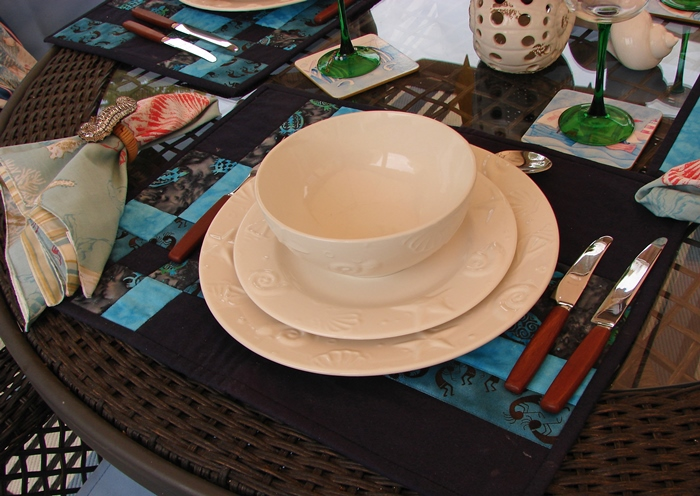 Beach Themed Dishware with Shell & Starfish Designs