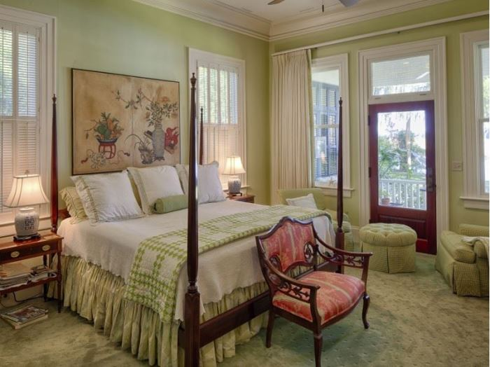 Beautiful Bedroom in Celery Green