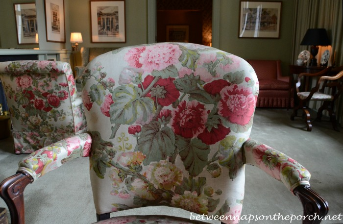 Beautiful Upholstery Fabric in Leila and Kemper Williams New Orleans Home