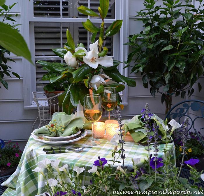 Candlelight Tablescape Alfresco