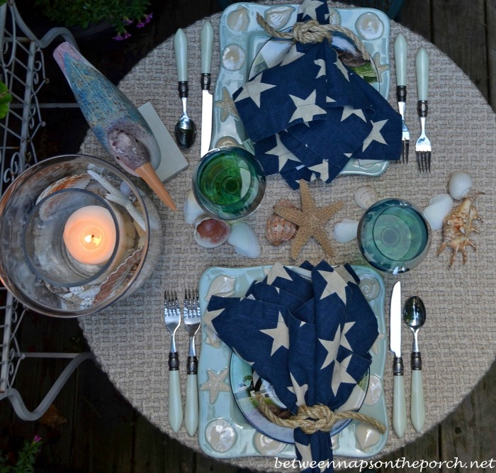 Coastal Theme Table Setting