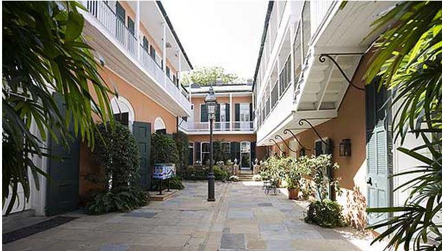 Courtyard Outside Kemper & Leila Williamses' Home