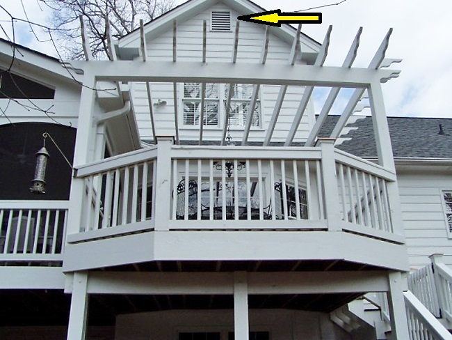 Deck with Pergola Above