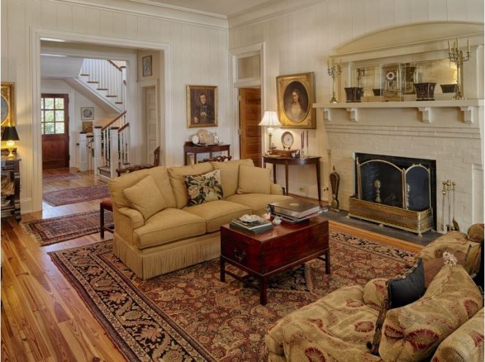 Elegant Living Room in Historic Southern Island Savannah Home 2