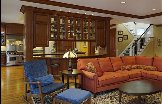 Family Room in Ron Howard's Connecticut Home