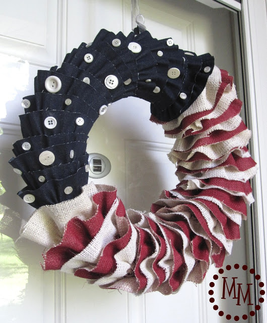 Make a Denim & Burlap Wreath