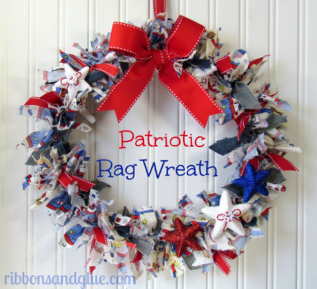 4th Of July Wreath Diy Deco Mesh