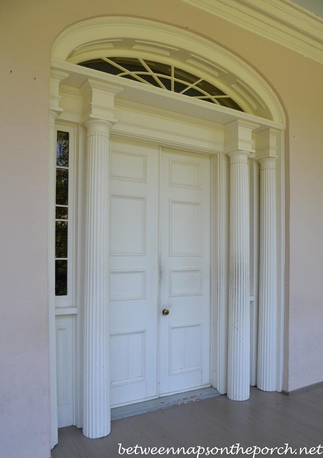 Oak Alley Plantation Balcony Front Door