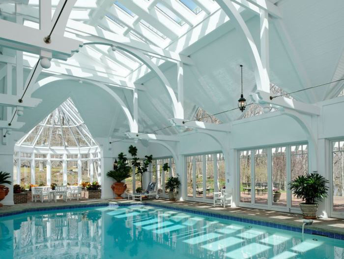 Ron Howard's Indoor Pool, Conyers Farm, Greenwich, CT