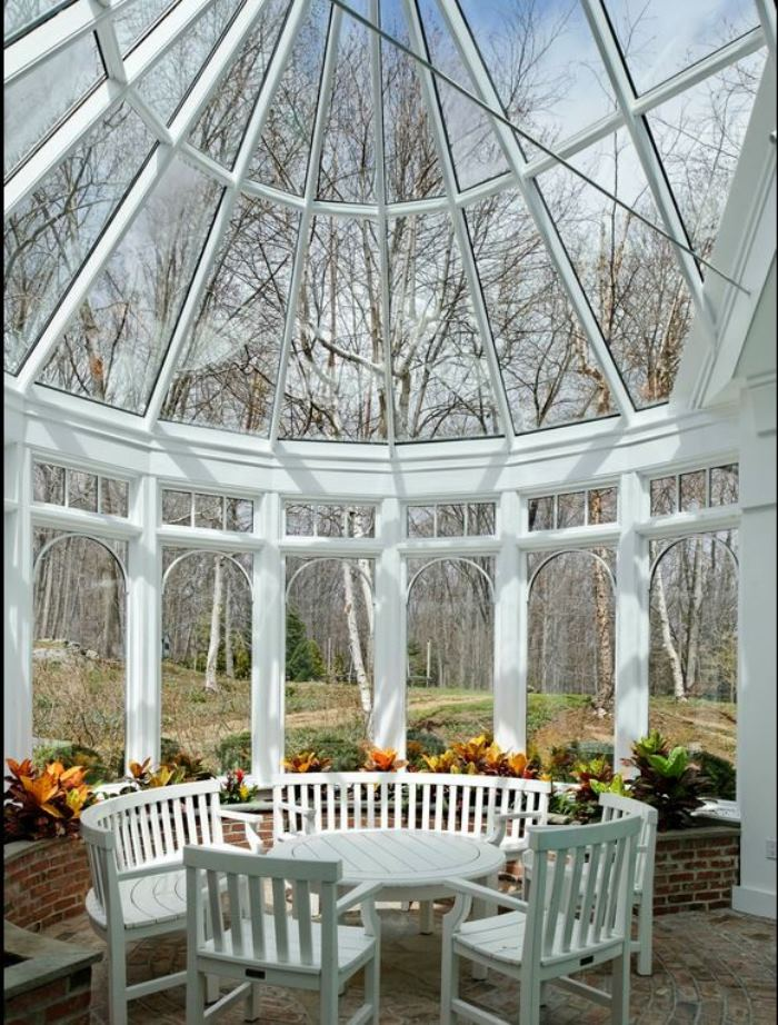 Ron Howard's Sunroom, Conservatory, Conyers Farm, Greenwich, CT