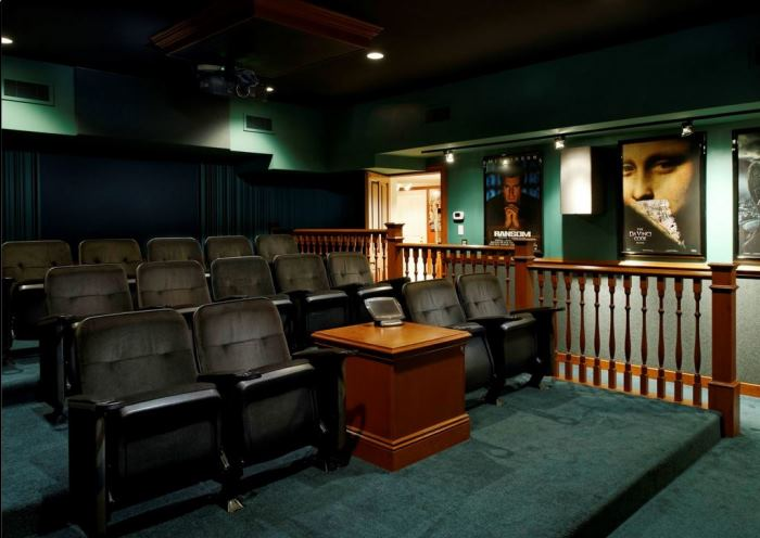 Ron Howard's Theater Media Room at Conyers Farm, Greenwich, CT