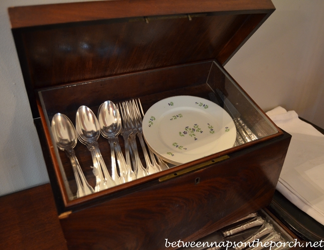 Silver and China, Oak Alley Plantation Home
