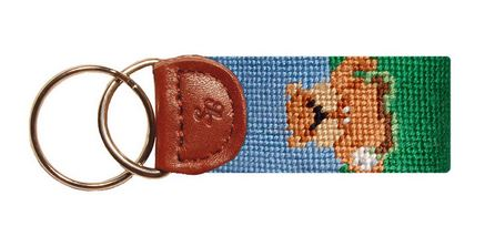 Smathers & Branson Needlepoint Caddy Shack Key Fob
