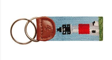Smathers & Branson Needlepoint Lighthouse Key Fob