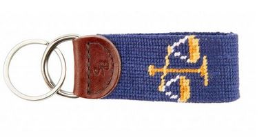 Smathers & Branson Needlepoint Scales of Justice Key Fob