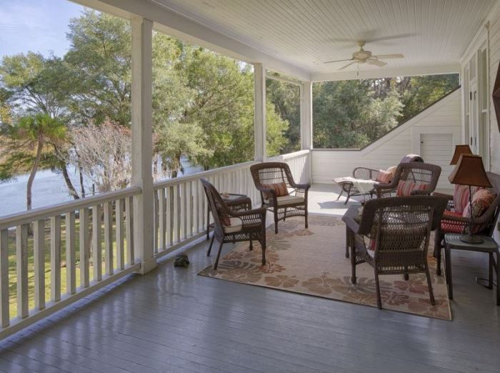 Southern Porch Overlooking Water in Savannah, Georgia 2