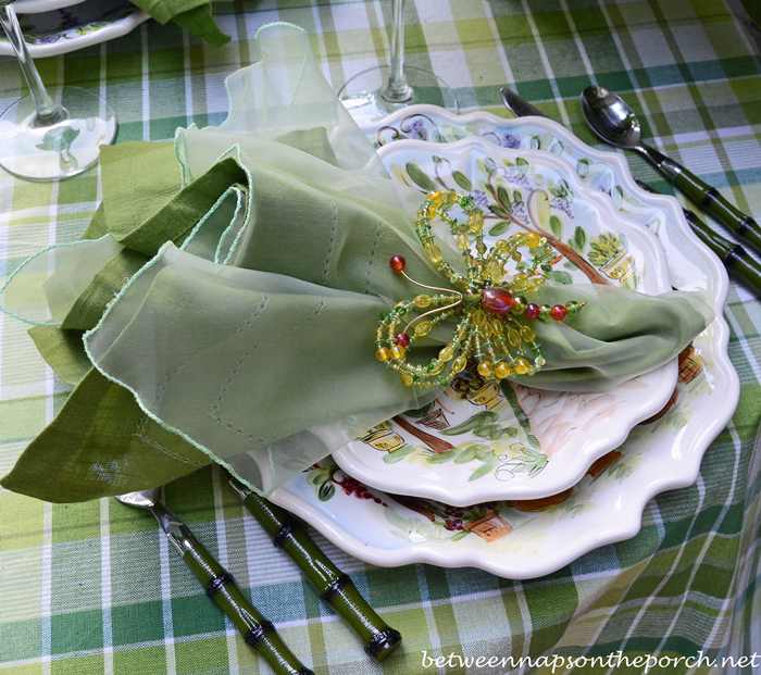 Summer Table Setting Outdoors