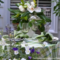Moonlight & Magnolias, Romantic Table Setting for Two