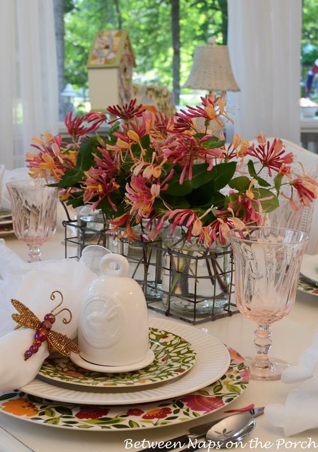 Summer-Table-Setting-with-Kim-Parker-Chargers-Dragonfly-Napkin-Rings