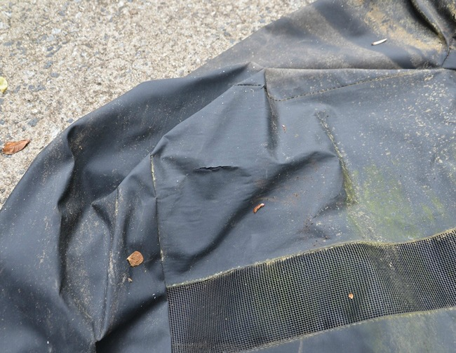 Tear in Grill Cover (2)
