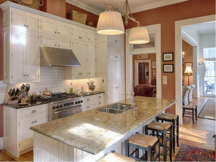 White Kitchen, Subway Tiles, Granite Counters