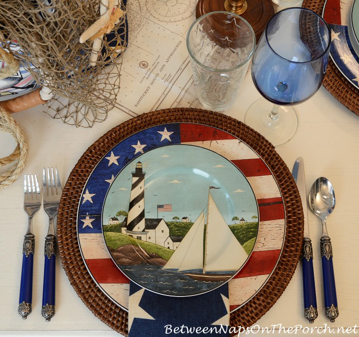 4th of July Flag Plate by Warren Kimble