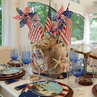 4th of July Nautical-Themed Table Setting