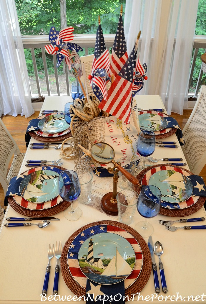 4th of July Nautical Table Setting Tablescape 11_wmss
