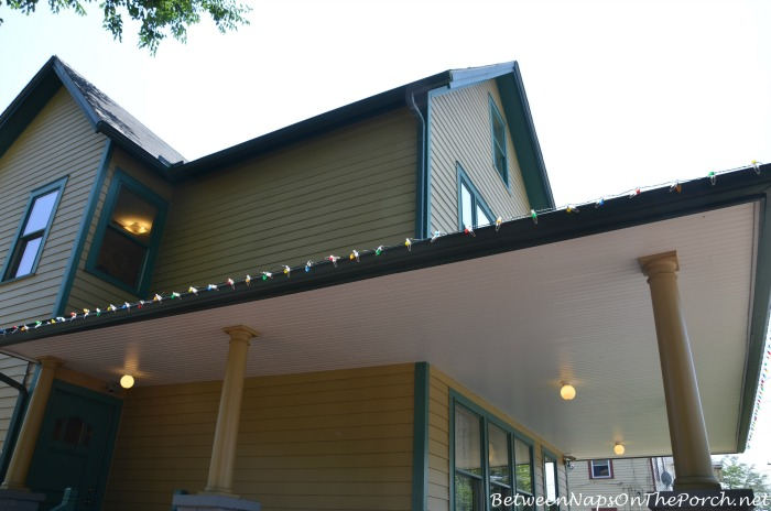 A Christmas Story House String Porch Lighting