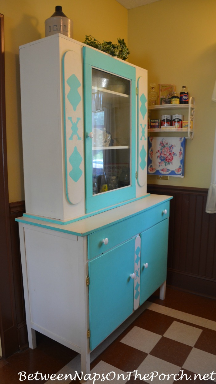 A Christmas Story Movie House Kitchen Blue Cabinet