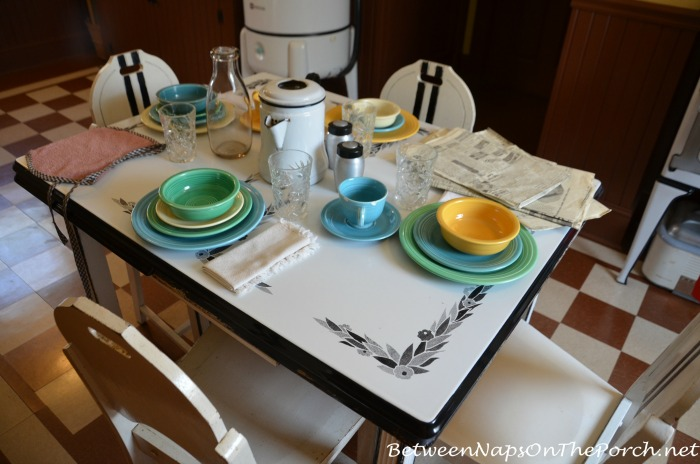 A Christmas Story Movie Kitchen Table With Fiestaware