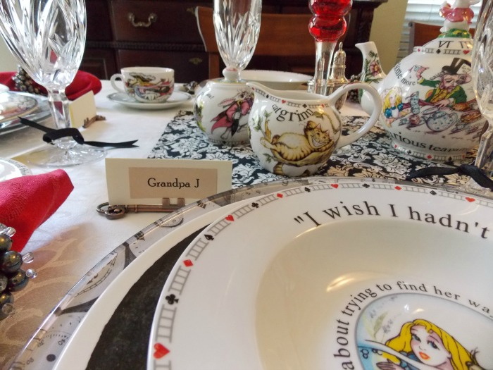 Alice in Wonderland Table Setting Tablescape 06
