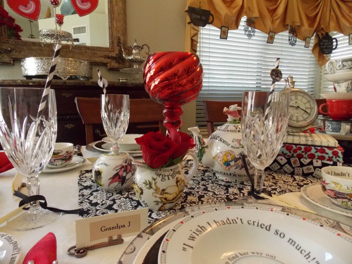 Alice in Wonderland Table Setting Tablescape 09