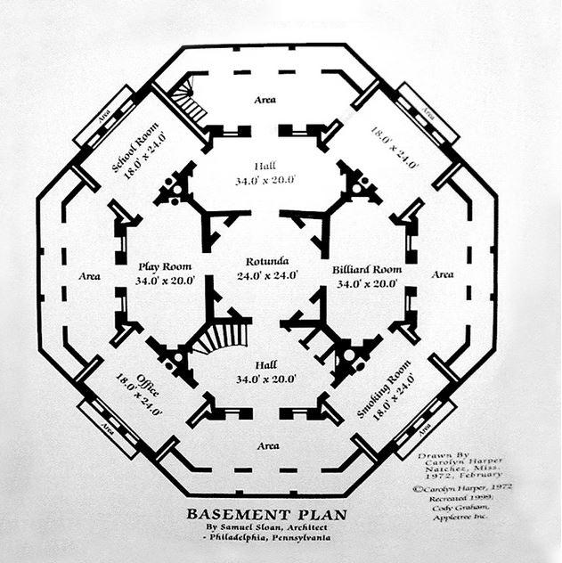 Basement Plans for Longwood Plantation