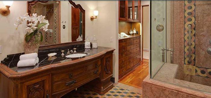 Bathroom, Heidi Klum's CA Home