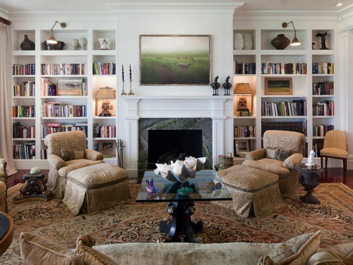 Built-in Bookshelves for Living Room