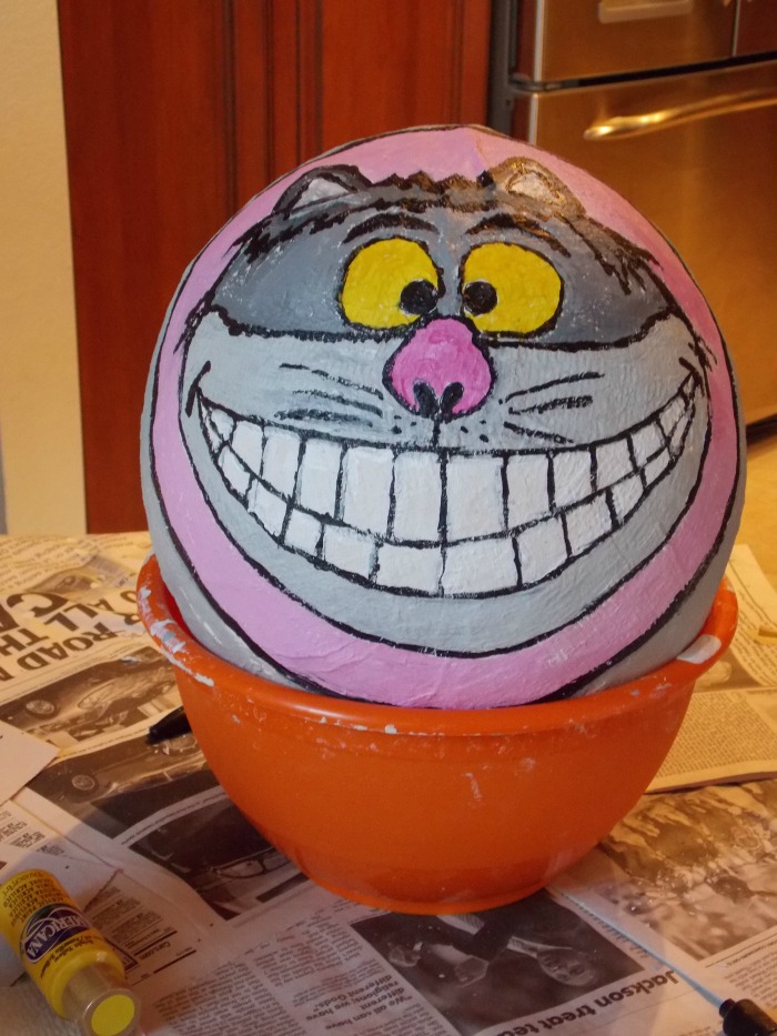 Cheshire Cat Pinata for an Alice in Wonderland Birthday Party