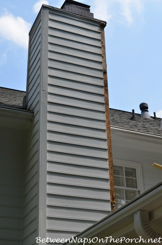 Chimney Corner Pieces Being Replaced with Hardieplank