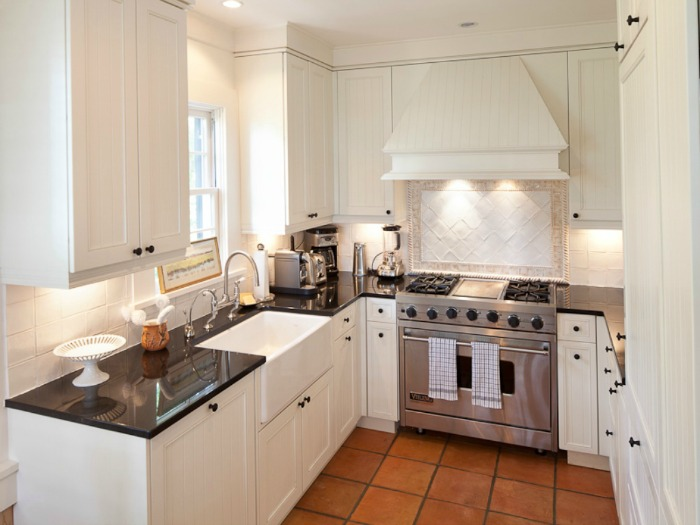 Cottage Kitchen With Stainless Appliances