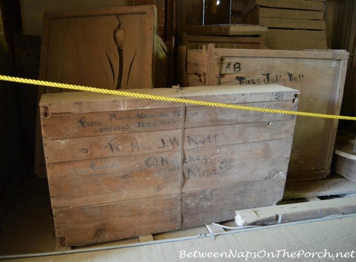 Crates Addressed to Julia Nutt Inside Longwood, Natchez Home