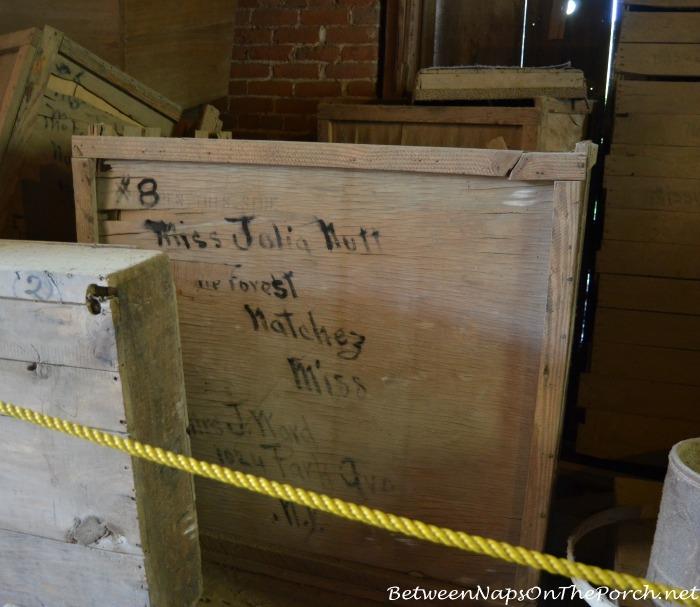 Crates Addressed to Julia Nutt Longwood, Natchez Home