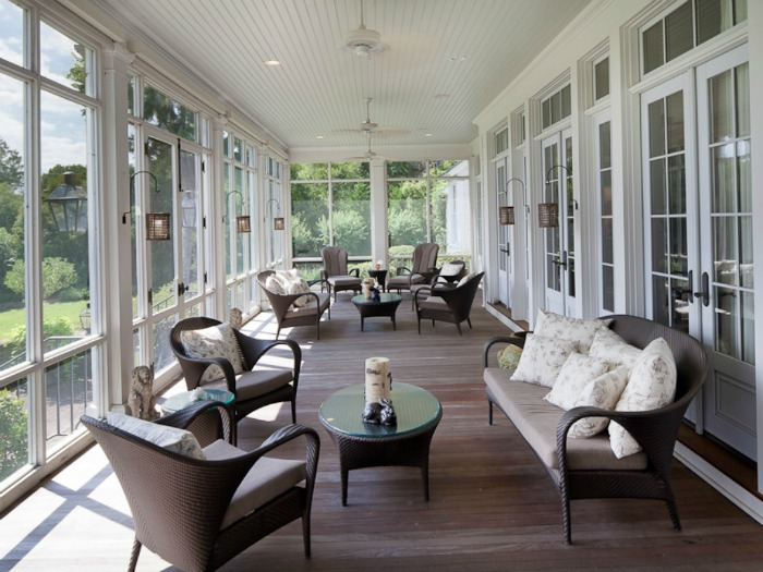 Decorate a Large Screened Porch