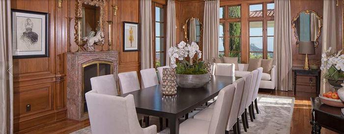 Dining Room, Heidi Klum Brentwood Home