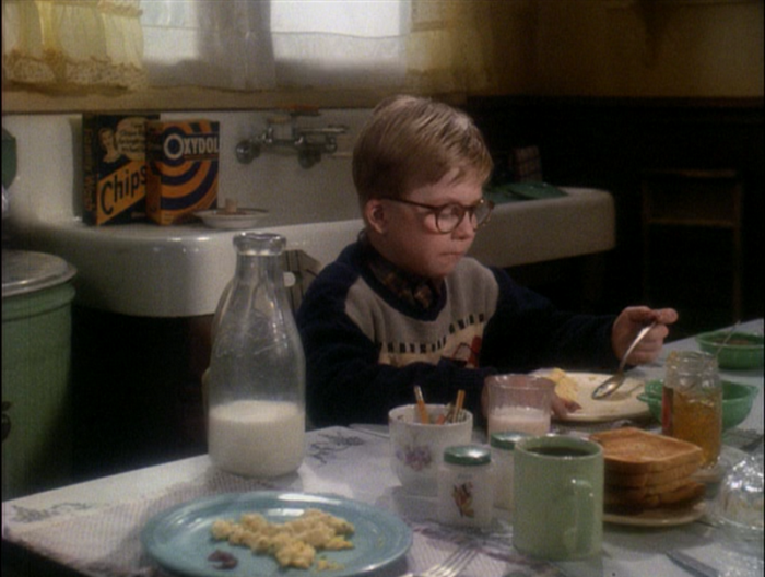 Dining Table and Fiestaware in A Christmas Story