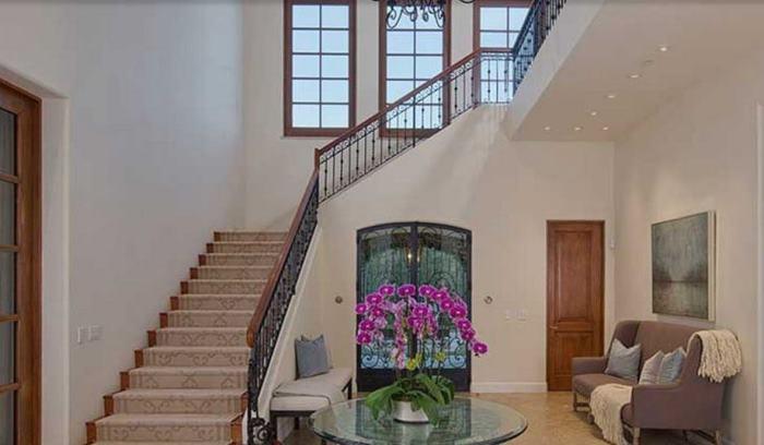 Entry, Heidi Klum's Brentwood Home